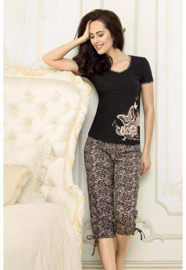 6216  комплект женский тениска+бриджи  Anabel Arto