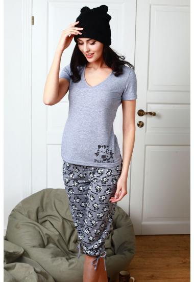 6216-1  комплект женски тениска и панталон 3/4  Anabel Arto