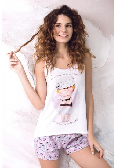 6213-6G дамски комплект тениска + шорти Anabel Arto