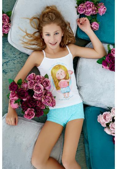 6612G  комплект младежка тениска + шорти