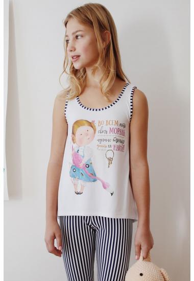 6653G Тениска за момиче Анабел Арто
