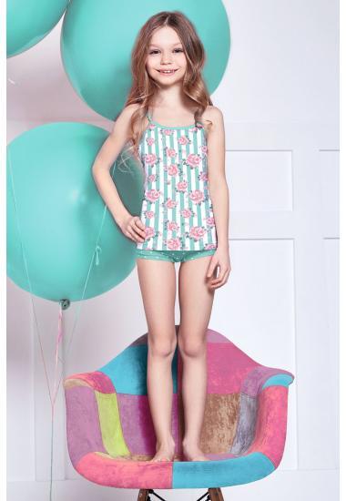 6412 Комплект за момиче : потник+шорти Anabel Arto