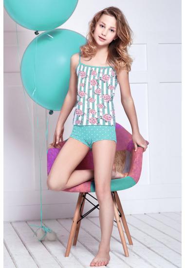 6612 комплект тийнейджърска риза + шорти Анабел Арто