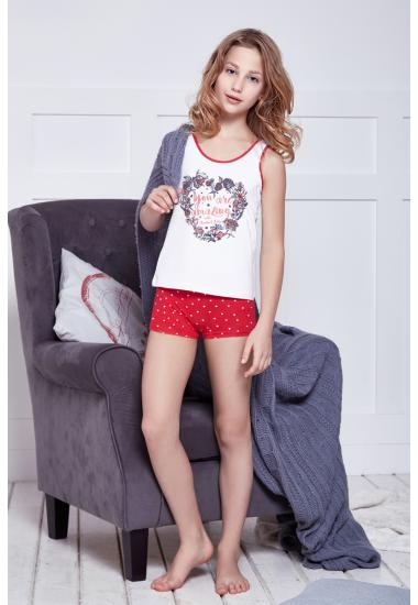 6613-5 Комплект за момиче (потник+шорти) Anabel Arto