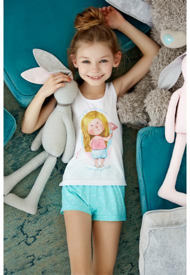 6413-5G  Комплект детски за момиче (тениска + шорти)  Anabel