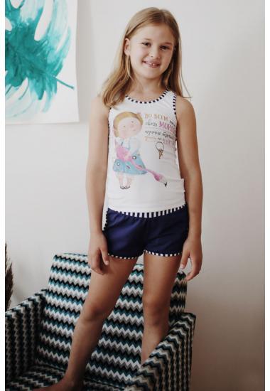 6413-1G Комплект детски за момиче (тениска + шорти) Anabel A