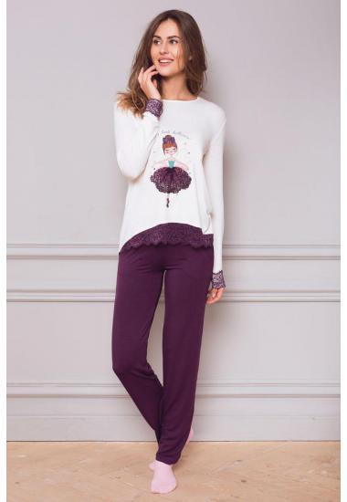 8122-6215 дамски комплект блуза и панталон Anabel Arto