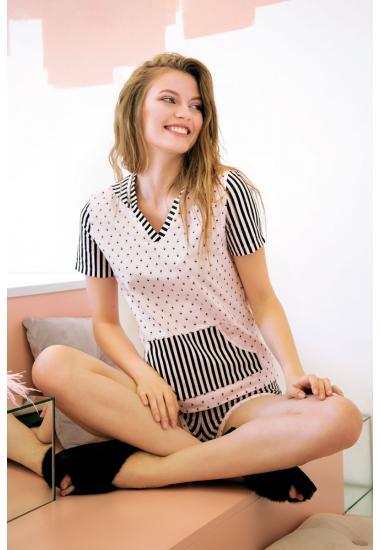 6211-3 комплект дамски блуза+шорти  Anabel Arto
